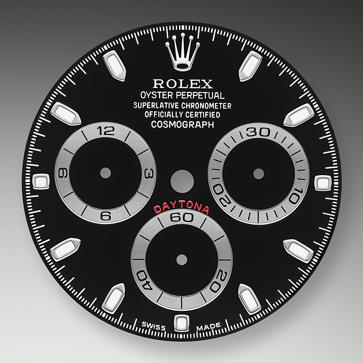 This model features a black dial with snailed counters, 18 ct gold applique hour markers and hands with a Chromalight display, a highly-legible luminescent material. The central sweep seconds hand allows an accurate reading of 1/8 second, while the two counters on the dial display the lapsed time in hours and minutes. Drivers can accurately map out their track times and tactics without fail.