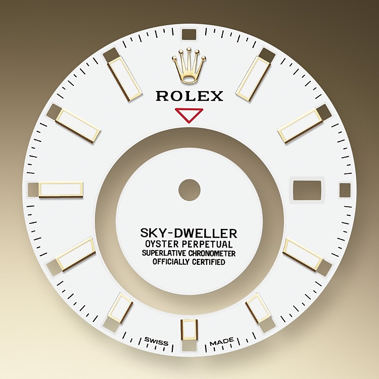 """"""" A fixed inverted red triangle on the dial points to the chosen reference time - the time at home or at the traveller's usual workplace - on the off-centre 24-hour disc. At a glance, this 24-hour display clearly distinguishes daytime hours from night-time hours in the other time zone. The dials now feature rectangular index hour markers and longer hands, as well as a Chromalight display with long-lasting luminescence, which enhances legibility.<br>A deep red rectangle in one of the 12 windows around the dial indicated the current month, a striking characteristic of the Saros annual calendar. This ingenious mechanism simplifies life for the wearer of the watch, who no longer needs to think about adjusting the date at the end of a 30-day month. The annual calendar displays the correct date through the year. Only one adjustment is needed - on 1 March (February having only 28 or 29 days). The date is connected to local time and automatically changes according to the traveller's local time zone."""